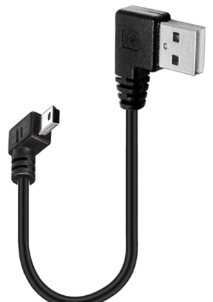 USB A公90度 -MINI USB 5PIN 公90度傳輸線,15cm